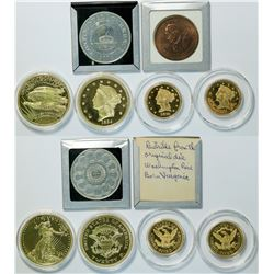 Gold Plated U.S. Coin Restrikes  (112908)