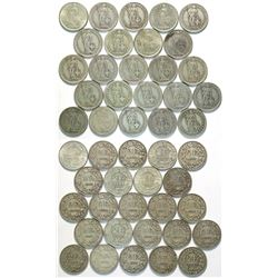 Swiss 2 Franc Silver Coin Collection  (112803)