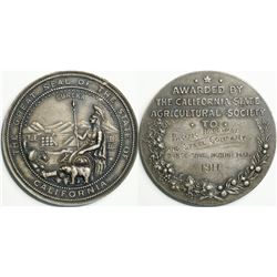 California State Agricultural Society Silver Award Medal  (114075)