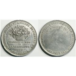 Warren & Son Agricultural Award Medal, Unengraved, 38.79mm  (114071)