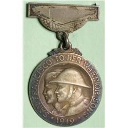 363rd Infantry WWI Home Coming Silver Medal  (114107)