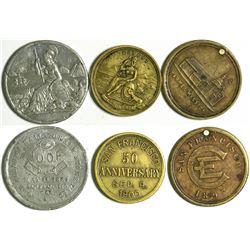 California Medalets (4)  (114083)