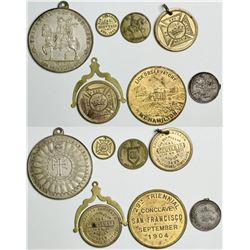 Knights Templar Triennial Conclave Medals (7)  (114110)