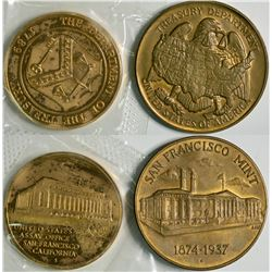 San Francisco Mint Medals (2)  (114056)