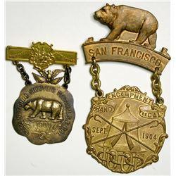 San Francisco Souvenir Medals (2)  (114093)