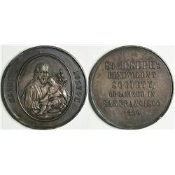 St. Joseph's Benevolent Society Medal  (114095)
