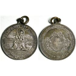 Swiss Colony of California 600 Year Celebration Medal  (114101)