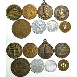 California Medal and Token Collection (8)  (114063)