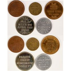 Pacific Coast Numismatic Society Medals  (109926)