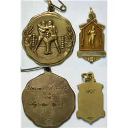 Set of 2 Boxing Medallions  (111515)