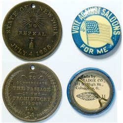 Temperance Medal and Pin  (114303)