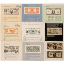 Large Size Dollar Bills and Bureau of Engraving and Printing Souvenir Cards  (112095)