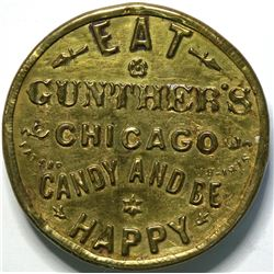 SHELL CARD / B-IL-295 / IL, Chicago / Gunther's Candy / Mirror  (111524)