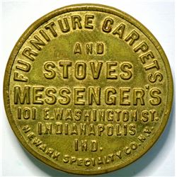 SHELL CARD / UNLISTED / IN, Indianapolis / Messenger's F. C. & Stoves / Mirror  (111456)