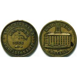 SHELL CARD / B-MI-450 / MI, Kalamazoo / Kalamazoo College  (111472)