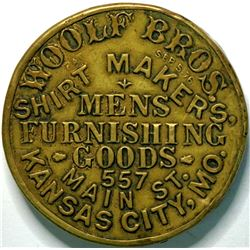 SHELL CARD / B-MO-200/ MO, Kansas City /Woolf Bros. / Mirror  (111485)