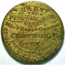 SHELL CARD / B-NJ-320/ NJ, Hoboken / Hart The People's Clothier / Mirror  (111509)