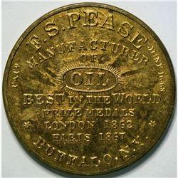 SHELL CARD / B-NY-2000 / NY, Buffalo / F.S. Pease  / Mirror  (111468)