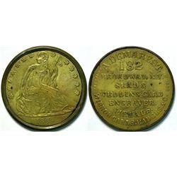 SHELL CARD / B-NY-4560 / NY, New York / A. Demarest/ $1- 1869B  (111486)