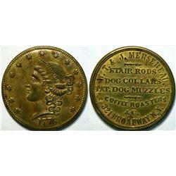 SHELL CARD / B-NY-6804 / NY, New York / W.T. & J. Mersereau/$20- 1776  (111474)