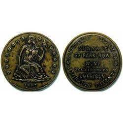 SHELL CARD / B-NY-6880 / NY, New York / Munn & Co. / Scientific American/ $1- 1867C  (111482)
