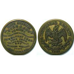 SHELL CARD / B-NY-7680 / NY, N.Y. / So. American Fever & Ague Remedy/MX - 1865 8 Reals  (111500)