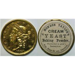SHELL CARD / B-NY-7836 / NY, N.Y. / J. Monroe Taylor's Cream Yeast B.P./ $20- 1870  (111505)