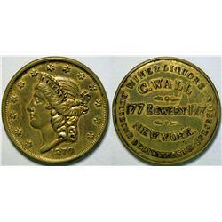 SHELL CARD / B-NY-8300 / NY, New York / C. Wall/ $20- 1870  (111483)
