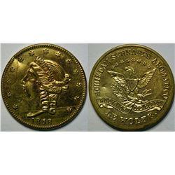 SHELL CARD / B-NY-8600 / NY, New York / Schiedam Schnapps Aromatico / $20- 1868C  (111478)