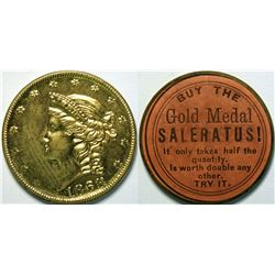 SHELL CARD / UNLISTED / NY, New York / Gold Medal Saleratus! / $20-1868  (111457)