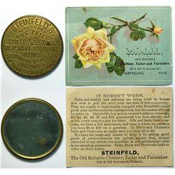SHELL CARD / B-NY-8820 / NY, Rochester / Steinfeld's  / Mirror  (111518)
