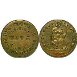 SHELL CARD / B-OH-1300 / OH, Cincinnati / Pye, $1- 1867B  (111455)