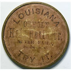 SHELL CARD / B-TN-400 / TN, Memphis / Louisiana Creole Hair Restorer / Mirror  (111526)