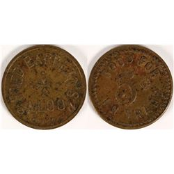 Fred Barrett Saloon Token  (112706)