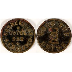 Summerville Hotel Bar, H.L. Rosasco, Summerland, Cal Token  (112838)