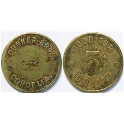 Dunker Bros., Cordelia Trade Token  (114050)