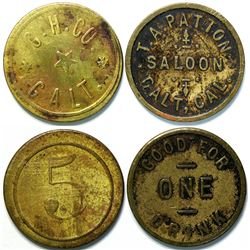 2 Tokens from Galt, Cal. Including a Saloon Token  (111435)