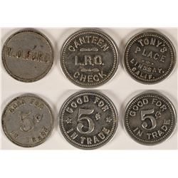 Three Different Tokens from Lindsay, Cal.  (112827)