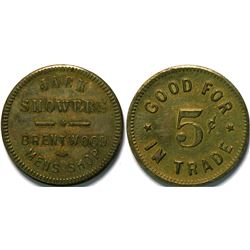 Jack Showers, Brentwood Heights, Cal Token  (112955)