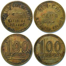 Two Different Tokens from Chi-Chi Club, Avalon, Catalina Island  (112960)
