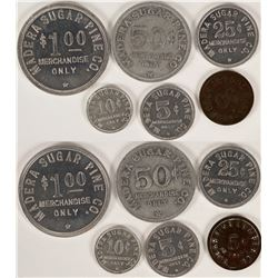 Madera Sugar Pine Co., Sugar Pine, Cal Token Set Plus 1 From Sugar Pine Lumber Co. (6)  (112837)