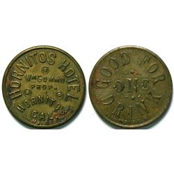Hornitos Hotel, Hornitos, California Token  (112944)