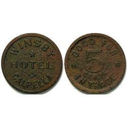 Winsby Hotel, Calpella, Cal Token  (112949)