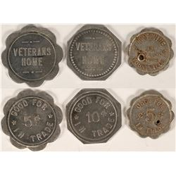 3 Different Tokens from Yountville, California Including Grapevine Inn (2 Known)  (112885)