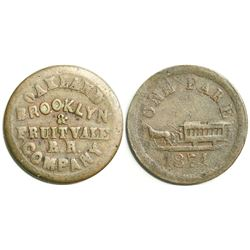 Oakland, Brooklyn, & Fruitvale R.R. Transportation Token  (114068)