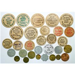 Riverside and vicinity Wooden Dollars and Tokens  (112991)
