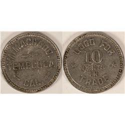 M. Machado, Temecula, Cal. Token- Rare  (112857)