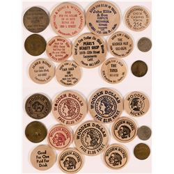 Sacramento Tokens and Wooden Nickels  (112990)