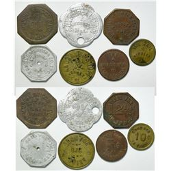 Needles, Cal Token Group (7) Includes Needles Liquor Co (2)  (111415)
