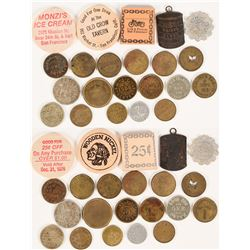 Large Group of San Francisco Tokens (21)  (112887)